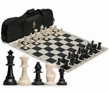 Chess Set: Tournament W/Black Bag And Roll-Up
