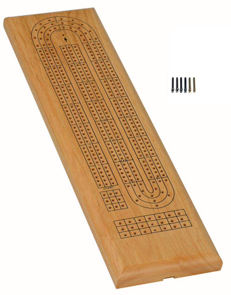 Wood Expressions Cribbage: 3-Track Natural (EN)