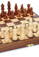 "Wood Expressions Chess Set: Folding Wood 11.5"" Walnut (EN)"