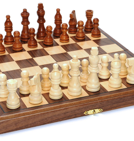 "Wood Expressions Chess Set: Folding Wood 11.5"" Walnut (EN)"
