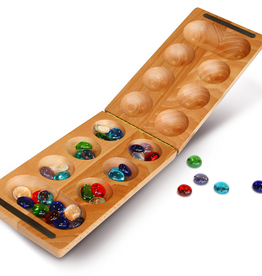 "Wood Expressions Mancala: Folding 8.5"" African Stone Game"