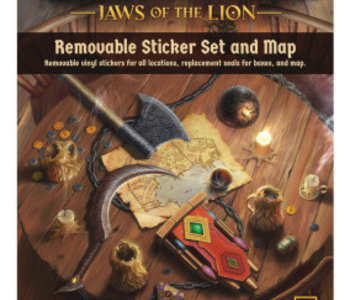 Gloomhaven: Jaws Of The Lion: Removable Sticker Set And Map (EN)