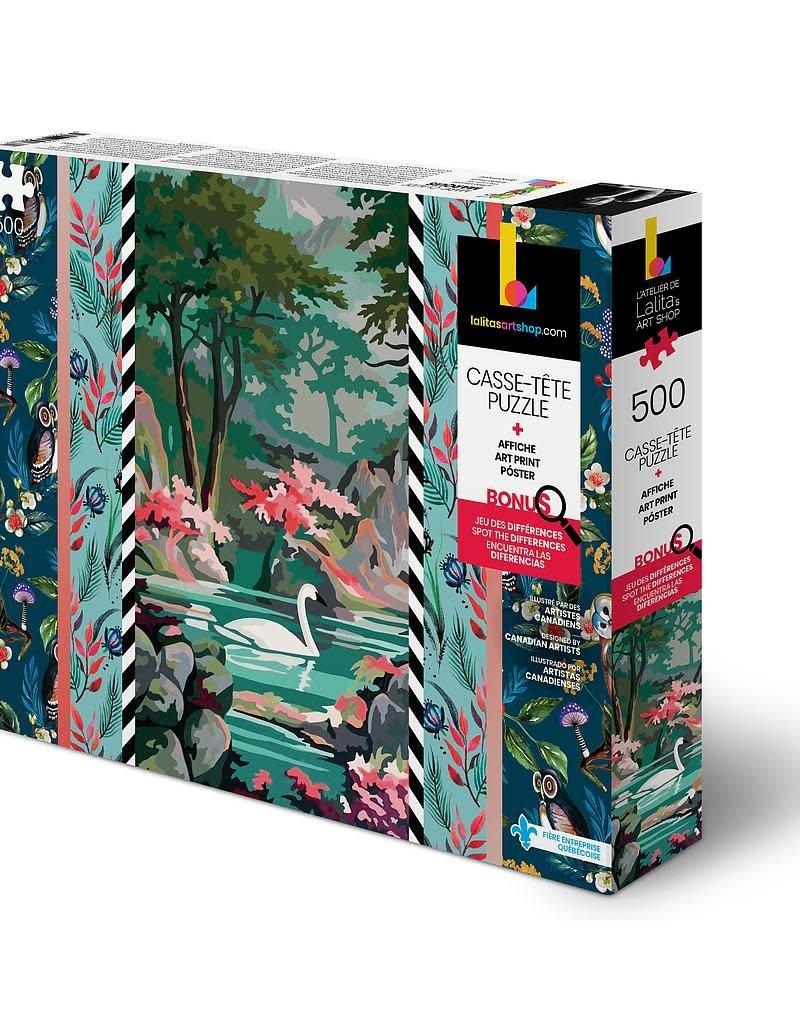 Lalita's Art Shop Casse-tête: Cygne (500 Mcx)