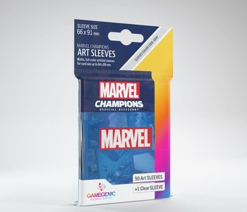 GGS10106ML «Marvel Champions» 66mm X 91mm Marvel Logo Bleu / 50 Sleeves Gamegenic