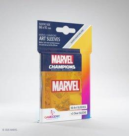 Gamegenic Précommande: GGS10107ML «Marvel Champions» 66mm X 91mm Marvel Logo Orange / 50 Sleeves Gamegenic