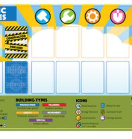 Deep Water Games Précommande: Fantastic Factories: Playmat (EN)