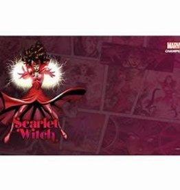 Fantasy Flight Games Précommande: Marvel Champions LCG: Scarlet Witch : Playmat (EN)