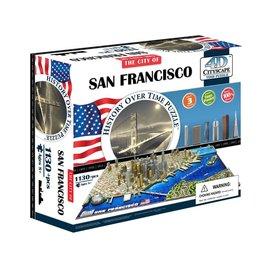 4D Brands International Casse-tête: 4D Cityscape: San Francisco, USA (1094 Pieces)