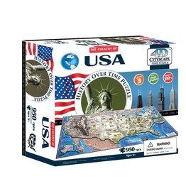4D Brands International Casse-tête: 4D Cityscape: USA (977 Pieces)
