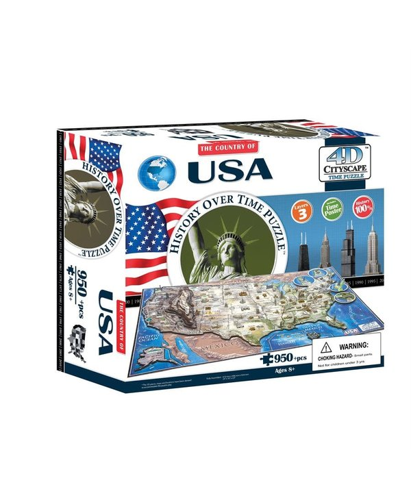 Casse-tête: 4D Cityscape: USA (977 Pieces)