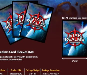 Star Realms Sleeves 60CT