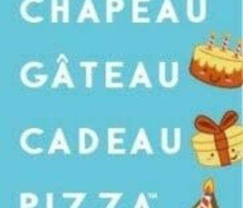 Taco, Chapeau, Gâteau, Cadeau, Pizza (FR)