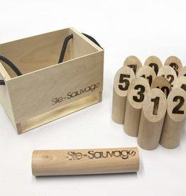 Ste-Sauvage Quilles Ste-Sauvage: Boîte en Bois (ML)  (Molkky)