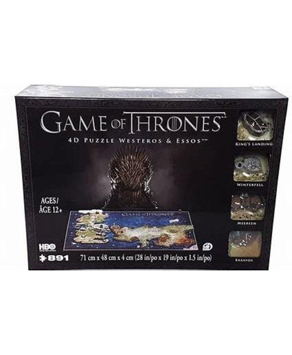 Casse-tête: 4D Puzzle: Game Of Thrones: Westeros An Essos (891 Pieces)