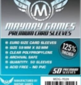 Mayday Games Sleeves - MDG-7029 «Euro» 59mm X 92 mm Deluxe / 50