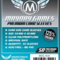 Sleeves - MDG-7029 «Euro» 59mm X 92 mm Deluxe / 50