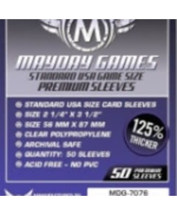 Sleeves - MDG-7076 «Standard USA» 56mm X 87mm Deluxe / 50