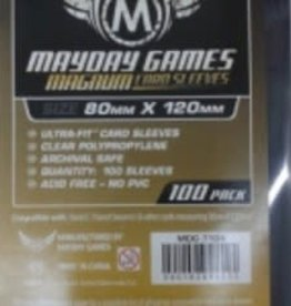 Mayday Games 7104N Sleeve «magnum gold» de couleur Noir 80mm X 120mm / 100