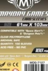 Mayday Games 7127 Sleeve «magnum Space Alert & Dungeon Petz» 61mm X 103mm / 100