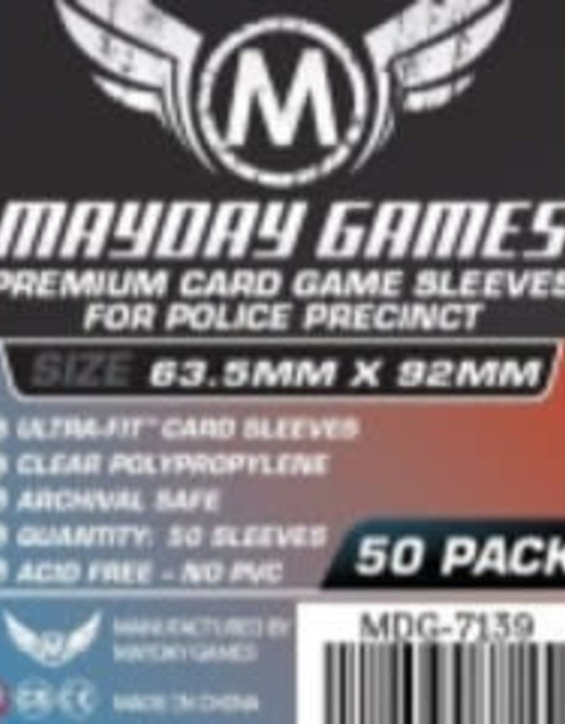 Mayday Games 7139 Sleeve «Police Precinct» Ultra-Fit 63.5mm X 92mm / 50