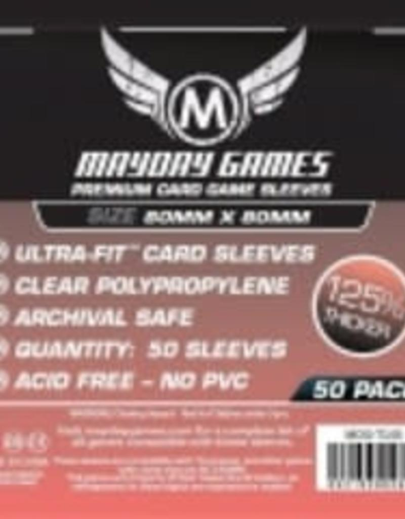 Mayday Games Sleeves - MDG-7145 «carrés» 80mm X 80 mm Deluxe / 50