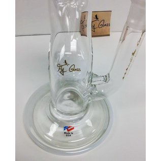 "FLY GLASS FLY GLASS 19.5"" WHITE/GOLD WATER PIPE"