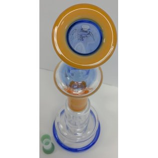 "FLY GLASS FLY GLASS 17.5"" BLUE/BEIGE WATER PIPE"