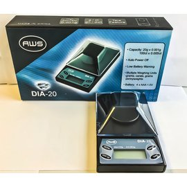 AWS DIGITAL DIAMOND SCALE DIA20 20 X 0.001G