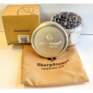 """$50 GRINDER SHARPSTONE V2 2"""" - SILVER"""