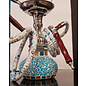DOUBLE HOSE SHORT DECORATIVE HOOKAH