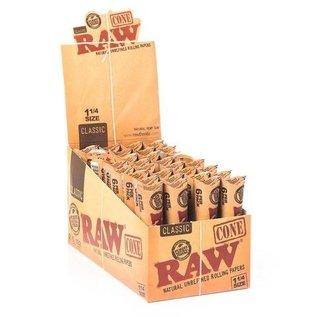 RAW  CLASSIC 6 PACK 1 1/4 CONES BOX
