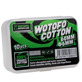 WOTOFO WOTOFO - AGLETED ORGANIC COTTON 10PC