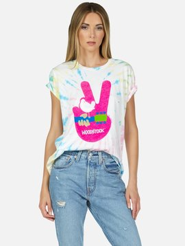 Lauren Moshi Woodstock Peace Tee