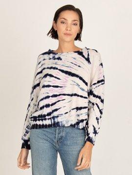 Monrow Bamboo Burst Tie Dye Sweatshirt