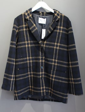 Velvet Jasmine Plaid Coat