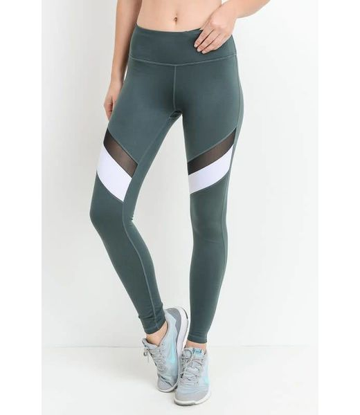 Lila Colorblock Mesh Full Legging