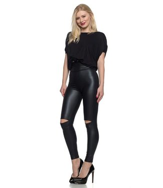 Hot to Trot Faux Leather Leggings