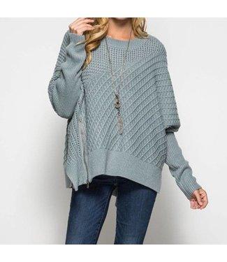 The Addison Zipper Detail Sweater