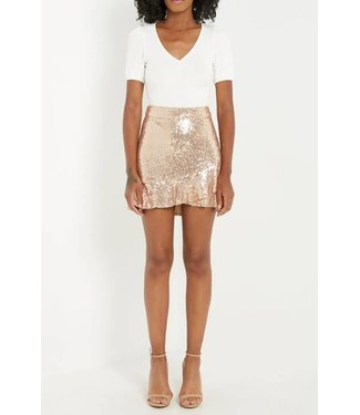 Ring It In Sequin Ruffle Skirt
