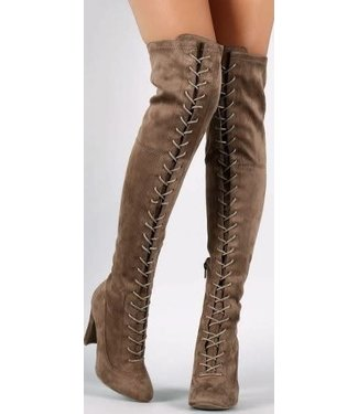 Lace Me Up Over The Knee Boots
