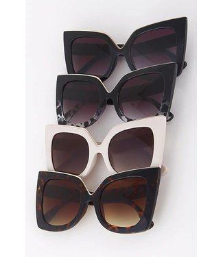 Top Down Square Cat Eye Frame Sunnies