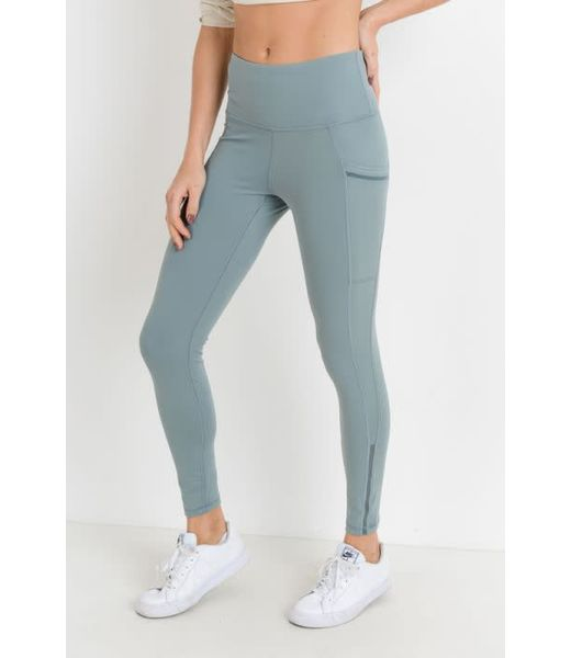 Lydia Side Mesh & Slit Full Leggings