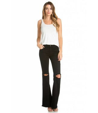 Rocker Chic Black Flare Denim