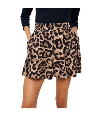 Step Aside High Waisted Leopard Shorts