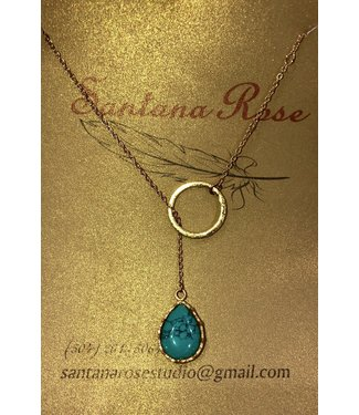 Santana Rose Pull Through Necklace