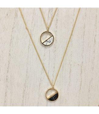 Hedi Hull Half Circle Marble Necklace