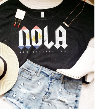 NOLA Flag Rocker Tee- Natty Grace Original Graphic Tee - MADE TO ORDER