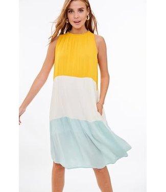 Walking On Sunshine Color Block Dress