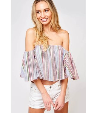 Sweet Serendipity Off Shoulder Bell Sleeve Top