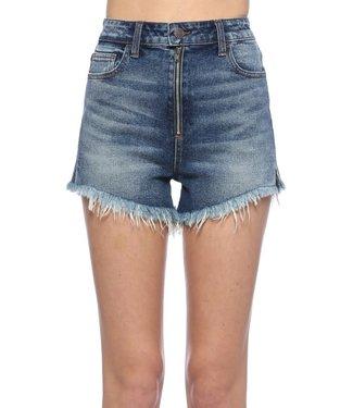 Calli Zipper Front High Waisted Shorts
